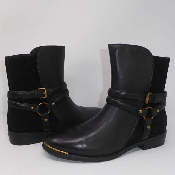3b198cb8bdf NEW UGG Kelby Black Leather Boots 8